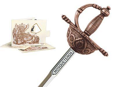 # 5224.3 Miniature Three Musketeers Rapier Sword by Marto of Toledo Spain - Bronze