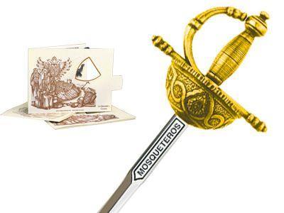 # 5224.1 Miniature Three Musketeers Rapier Sword by Marto of Toledo Spain - Gold