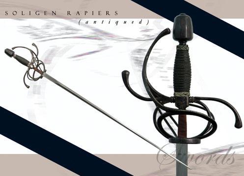 # RCPC2205NTS Antiqued Paul Chen Solingen Rapier Sword