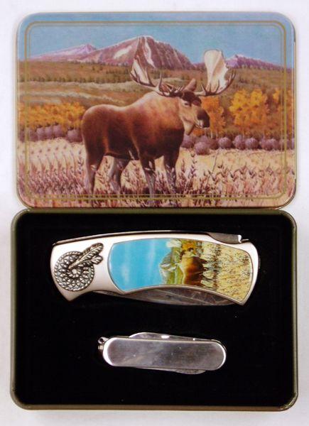 # RCPSKB32MOTS Moose 2 Piece Collectable Pocket Knife Set