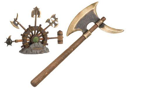 # CONAN152 Miniature Pick Axe of Conan the Barbarian by Marto of Toledo Spain - Gold
