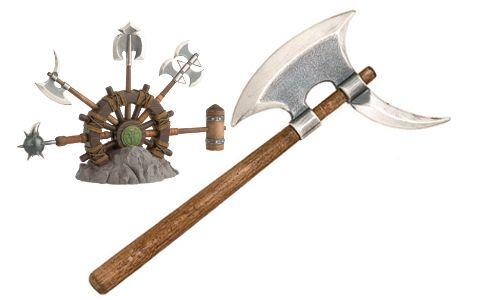 # CONAN142 Miniature Pick Axe of Conan the Barbarian by Marto of Toledo Spain - Silver