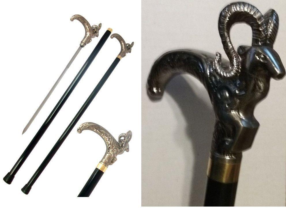 Ram Head Cane Sword