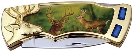 # RCSZ210295BXTS Deer Jewel Collectable Pocket Knife