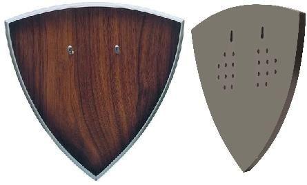 # RCSZ210654TS Shield Universal Sword Display Plaque