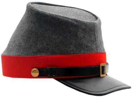 # RCSZ253411TS Confederate Artillery CSA Civil War Kepi Hat