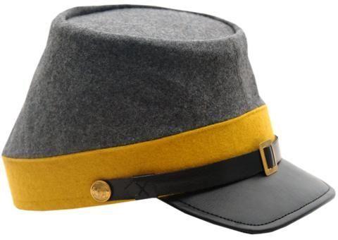 # RCSZ253418TS Confederate Cavalry CSA Civil War Kepi Hat