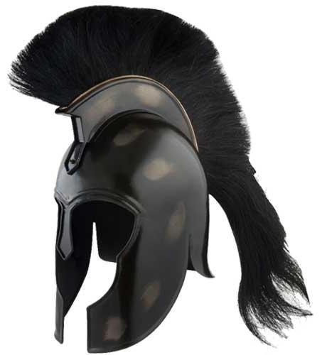 # RCSZ910938TS Black Trojan Corinthion Helmet Full Size