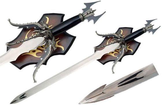 # RCSZ926785TS Dragon Quad Sword with Plaque