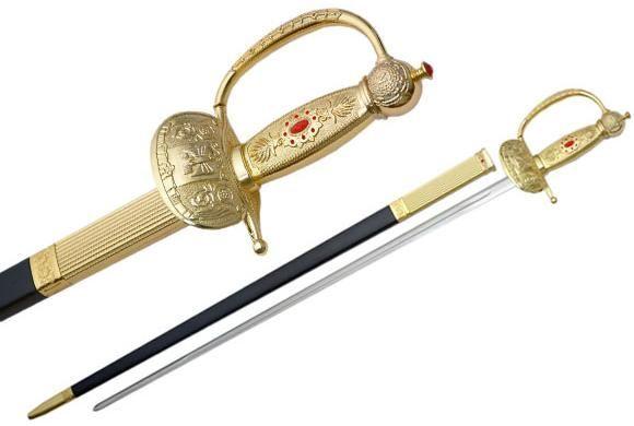 # RCSZ926786TS Napoleon Rapier Sword Gold