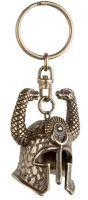# CONAN312 Conan the Barbarian Serpent Helmet Keyring by Marto of Toledo Spain - Bronze