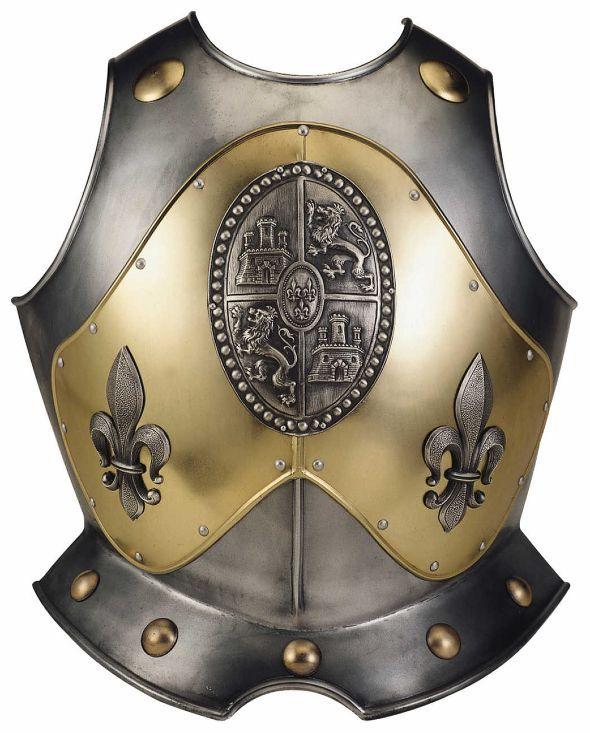 # 935 Spanish Castilla and Leon Breastplate of Fluer de Lys by Marto of Toledo Spain