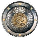 # 8983 Spanish Round Shield 16th Century Charles V by Marto of Toledo Spain