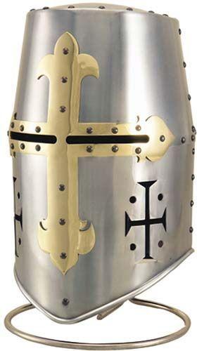# 945.2 Templar Knight Great Helm Helmet by Marto of Toledo Spain