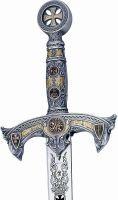 # 584.1 Silver Deluxe Knights Templar Sword by Marto of Spain
