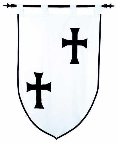 # MF1529 Templar Knight Teutonic Order Pennant by Marto of Toledo Spain