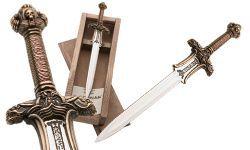 # CONAN058 Miniature Conan the Barbarian Atlantean Sword by Marto of Toledo Spain - Bronze