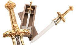 # CONAN057 Miniature Conan the Barbarian Atlantean Sword by Marto of Toledo Spain - Gold