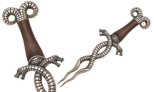 # CONAN028 Conan the Barbarian Serpent Snake Dagger by Marto of Toledo Spain - Silver