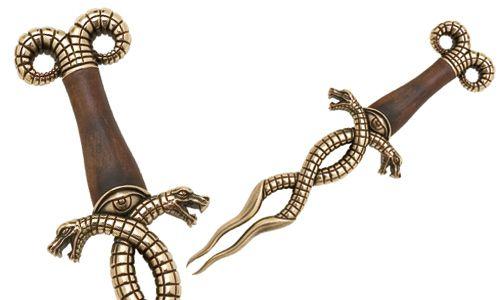 # CONAN029 Conan the Barbarian Serpent Snake Dagger by Marto of Toledo Spain - Bronze