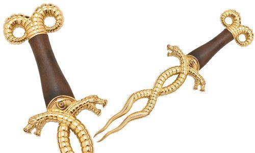 # CONAN027 Conan the Barbarian Serpent Snake Dagger by Marto of Toledo Spain - Gold