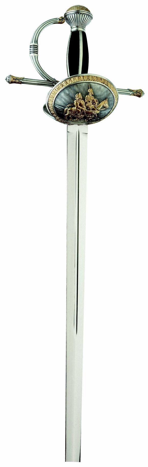 # 750 Don Quixote Clam Shell Hilt Rapier Sword by Marto of Toledo Spain