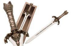 # CONAN201 Conan the Barbarian Father Sword Letter Opener by Marto of Toledo Spain - Bronze