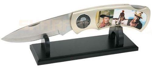 # RCBWCHFK458JJ2TS John Wayne Portraits Jumbo Collectable Pocket Knife and Stand