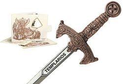 # 5212.3 Miniature Knights Templar Sword by Marto of Toledo Spain (Bronze)
