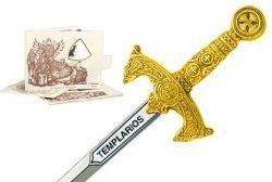 # 5212.1 Miniature Knights Templar Sword by Marto of Toledo Spain (gold)