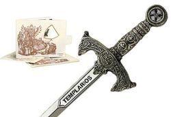 # 5212.2 Miniature Knights Templar Sword by Marto of Toledo Spain (Silver)