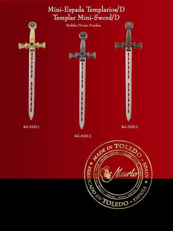 # 5229 Miniature Templar Knight Sword by Marto of Toledo Spain